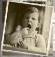 Mariette als baby